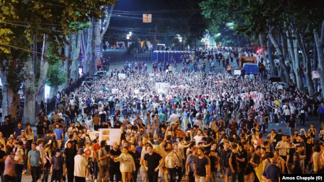 Վրաստանում շարունակվում են բողոքի ցույցերը(ՈՒՂԻՂ ԵԹԵՐ)