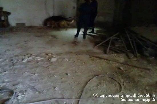 Քոչինյան փողոցի շինություններից մեկում պայթյունից հետո մեծ քանակությամբ զինամթերք է հայտնաբերվել