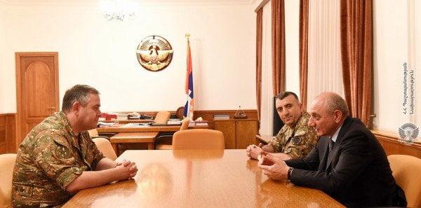 Բակո Սահակյանն ընդունել է ՀՀ ԶՈւ գլխավոր շտաբի պետին
