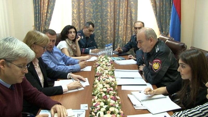 Հանդիպում ոստիկանությունում՝ ԵԱՀԿ պատվիրակության և ԵՄ գրասենյակի ներկայացուցիչների հետ