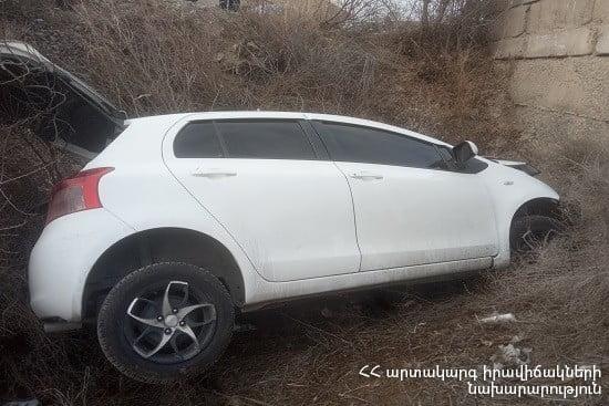 Ոստան գյուղի վերջնամասում մեքենան կողաշրջվել է․ կա 5 տուժած