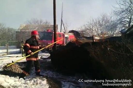 Տեղ գյուղում այրվել է 350 հակ անասնակեր